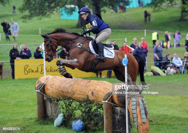 Zara Phillips riding High Kingdom competes in the CIC3* cross country event during the Bramham International Horse Trials at Bramham Park West...