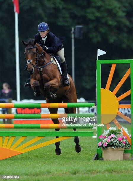 Zara Phillips riding High Kingdom competes in the CIC3* show jumping event during the Bramham International Horse Trials at Bramham Park West...