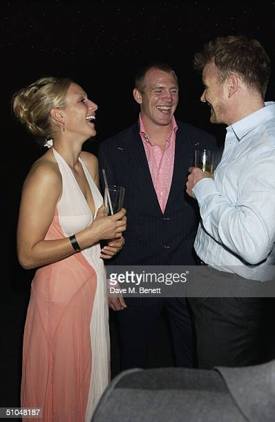 Zara Phillips rugby player Mike Tindall and celebrity chef Gordon Ramsay attend 'La Dolce Vita' charity dinner and concert part of the Grand Prix...