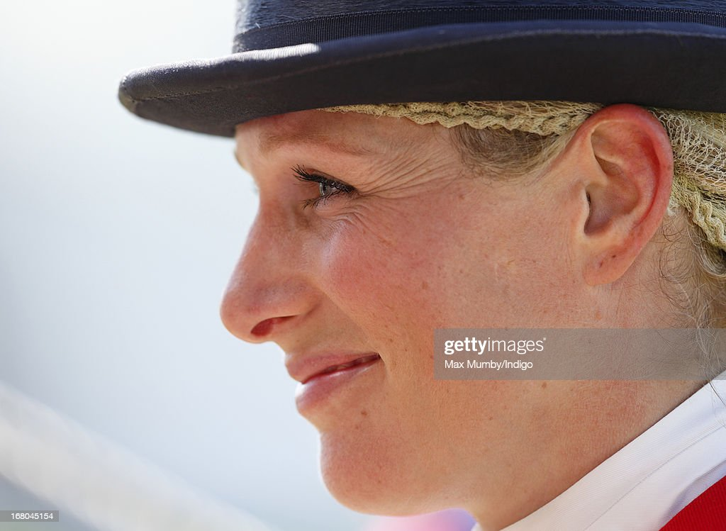 <a gi-track='captionPersonalityLinkClicked' href=/galleries/search?phrase=Zara+Phillips&family=editorial&specificpeople=161323 ng-click='$event.stopPropagation()'>Zara Phillips</a> seen after competing in the dressage phase of the Badminton Horse Trials on May 4, 2013 in Badminton, England.