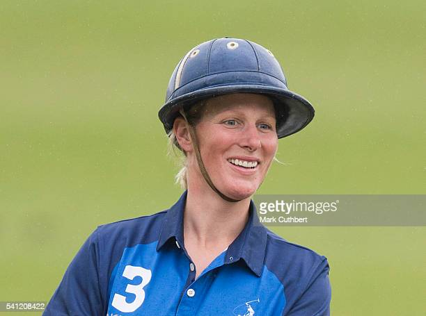 Zara Phillips taking part in the Gloucestershire Festival of Polo at Beaufort Polo Club on June 19 2016 in Tetbury England