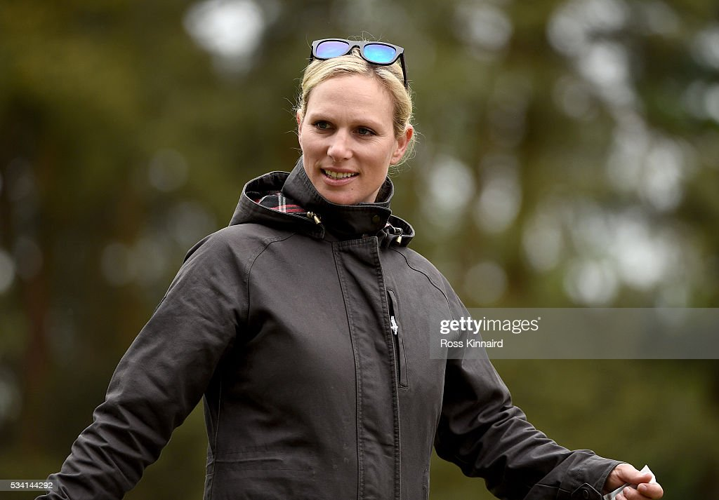 Zara Phillips walks the course during the Pro-Am prior to the BMW PGA Championship at Wentworth on May 25, 2016 in Virginia Water, England.