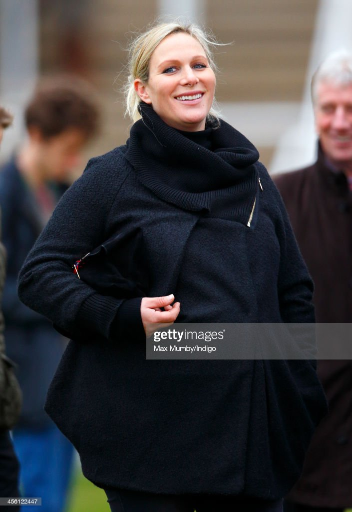 <a gi-track='captionPersonalityLinkClicked' href=/galleries/search?phrase=Zara+Phillips&family=editorial&specificpeople=161323 ng-click='$event.stopPropagation()'>Zara Phillips</a> watches Monbeg Dude (owned by her husband Mike Tindall) run in the Majordomo Hospitality Handicap Steeple Chase at Cheltenham Racecourse on December 13, 2013 in Cheltenham, England.
