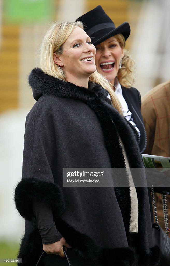<a gi-track='captionPersonalityLinkClicked' href=/galleries/search?phrase=Zara+Phillips&family=editorial&specificpeople=161323 ng-click='$event.stopPropagation()'>Zara Phillips</a> watches Monbeg Dude (owned by her husband Mike Tindall) run in the Murphy Group Handicap Steeple Chase at Cheltenham Racecourse on November 16, 2013 in Cheltenham, England.