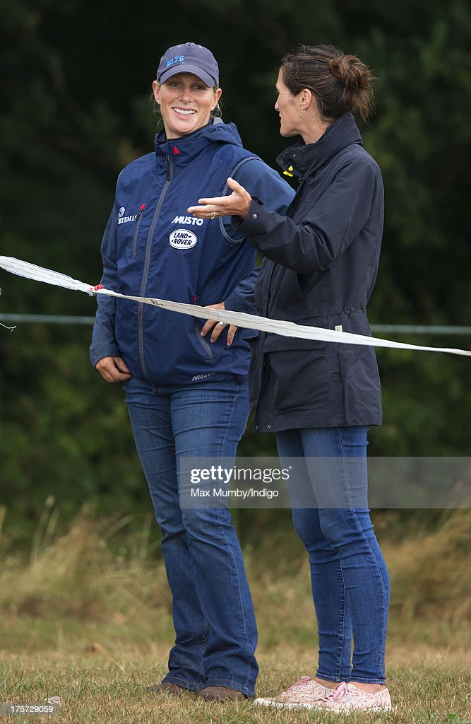 <a gi-track='captionPersonalityLinkClicked' href=/galleries/search?phrase=Zara+Phillips&family=editorial&specificpeople=161323 ng-click='$event.stopPropagation()'>Zara Phillips</a> watches rider Aimee Aspinall compete, on one of Zara's horses, at the Smiths Lawn Horse Trials on August 5, 2013 in Windsor, England.