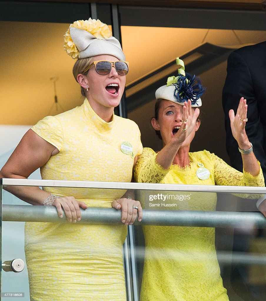 Zara Phillips watches the races on day 1 of Royal Ascot at Ascot Racecourse on June 16, 2015 in Ascot, England.