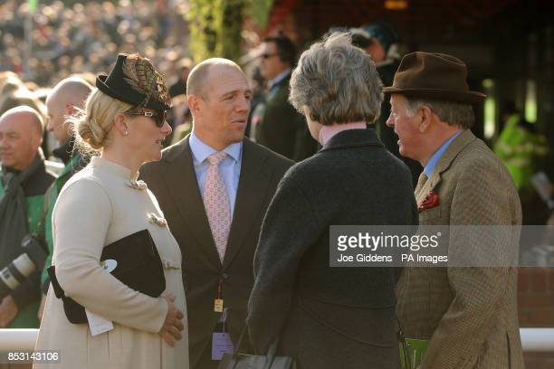 Zara Phillips with her husband Mike Tindall at Cheltenham Racecourse Cheltenham PRESS ASSOCIATION Photo Picture date Tuesday March 11 2014 See PA...
