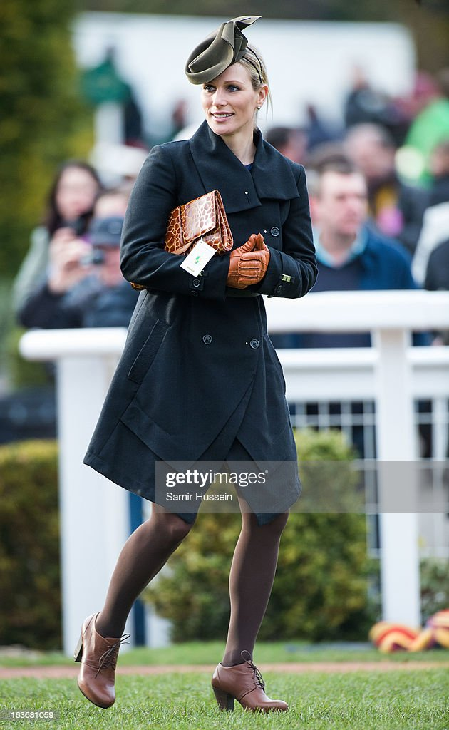 Zara Phillps attends day 3 of the Cheltenham Festival at Cheltenham racecourse on March 14, 2013 in London, England.