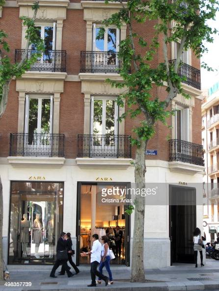 Zara shop in Serrano Street in Madrid this Spanish chain of selling clothes and accessories of the Inditex Group has opened a large store in a...