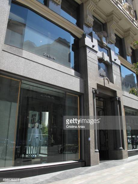 Zara store in Madrid's Gran Via Zara is the flagship brand of the Inditex group one of the leading groups in the global fashion market Madrid Spain