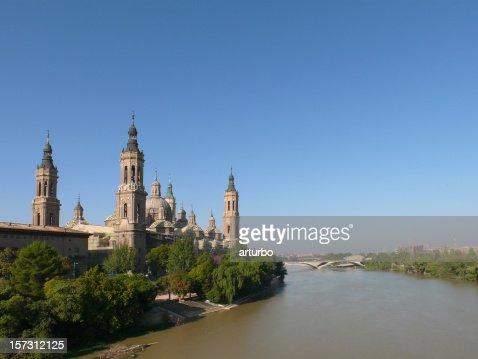 Zaragoza and river Ebro