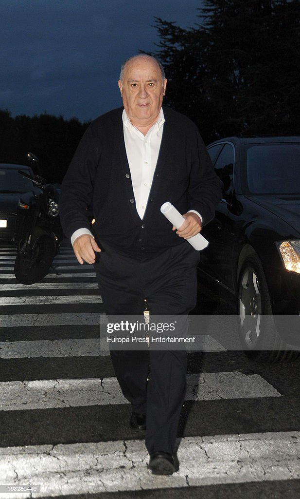 Zara's owner Amancio Ortega visits his daughter Marta Ortega after giving birth her first son Amancio Alvarez at Quiron Hospital on March 6, 2013 in A Coruna, Spain.