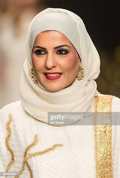 Zareena makes an appearance after her show during Dubai Fashion Forward April 2015 at Madinat Jumeirah on April 11 2015 in Dubai United Arab Emirates