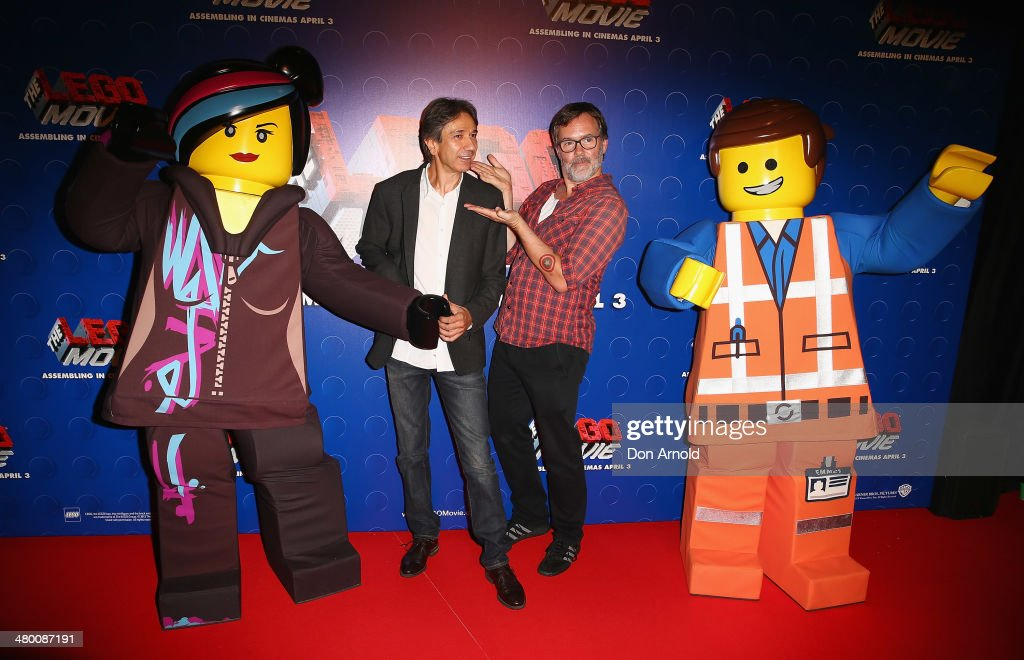 Zareh Nalbandian and Chris McKay attend the Sydney premiere of The LEGO Movie at Event Cinemas on March 23, 2014 in Sydney, Australia.