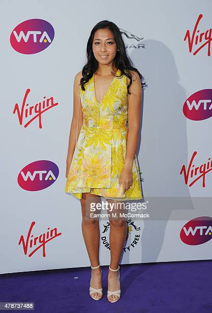 Zarina Diyas attends the annual WTA PreWimbledon Party presented by Dubai Duty Free at The Roof Gardens Kensington on June 25 2015 in London England