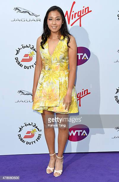 Zarina Diyas attends the WTA PreWimbledon Party at Kensington Roof Gardens on June 25 2015 in London England