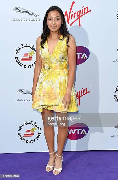Zarina Diyas attends the WTA PreWimbledon Party at Kensington Roof Gardens on June 25 2015 in London England