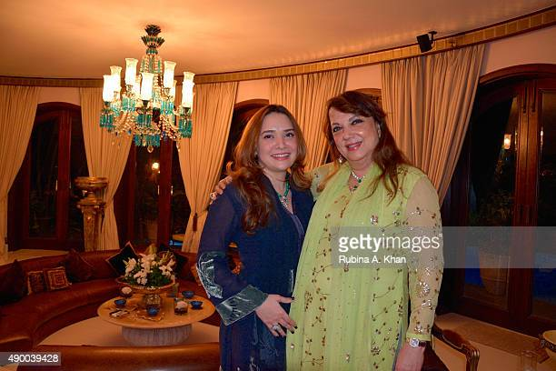 Zarine Khan and her daughterinlaw Malaika Khan celebrate Bakrid with their family and friends at Sanjay Plaza on September 25 2015 in Mumbai India