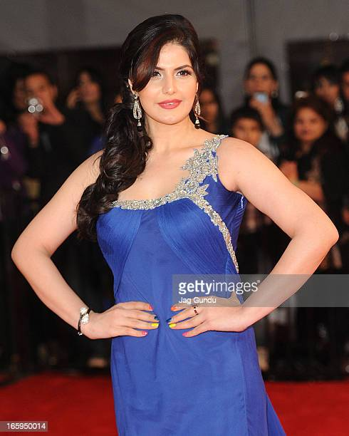 Zarine Khan walks the red carpet at The Times Of India Film Awards on April 6 2013 in Vancouver Canada