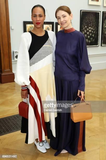 Zawa Ashton and Roksanda Ilincic attend the Roksanda handbag celebration breakfast at the Royal Academy of Arts on June 16 2017 in London England