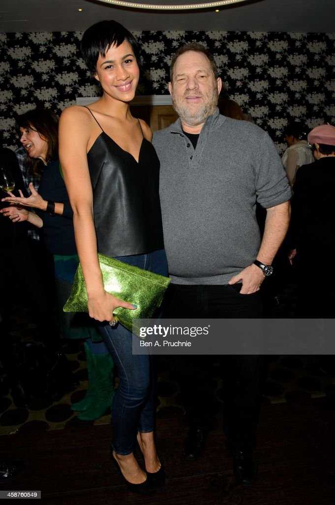Zawe Ashton and Harvey Weinstein attend the August: Osage County drinks & screening at Soho Hotel on December 21, 2013 in London, England.