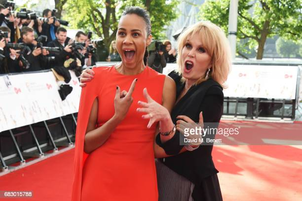 Zawe Ashton and Joanna Lumley attend the Virgin TV BAFTA Television Awards at The Royal Festival Hall on May 14 2017 in London England