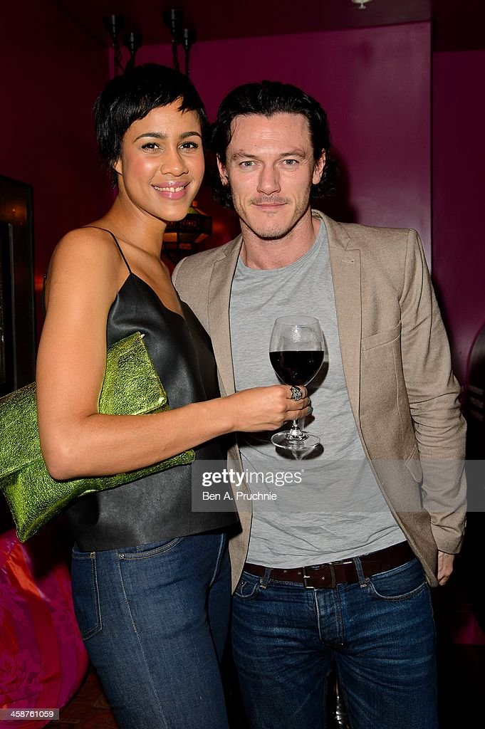 <a gi-track='captionPersonalityLinkClicked' href=/galleries/search?phrase=Zawe+Ashton&family=editorial&specificpeople=6579709 ng-click='$event.stopPropagation()'>Zawe Ashton</a> and Luke Evans attend the August: Osage County drinks & screening at Soho Hotel on December 21, 2013 in London, England.