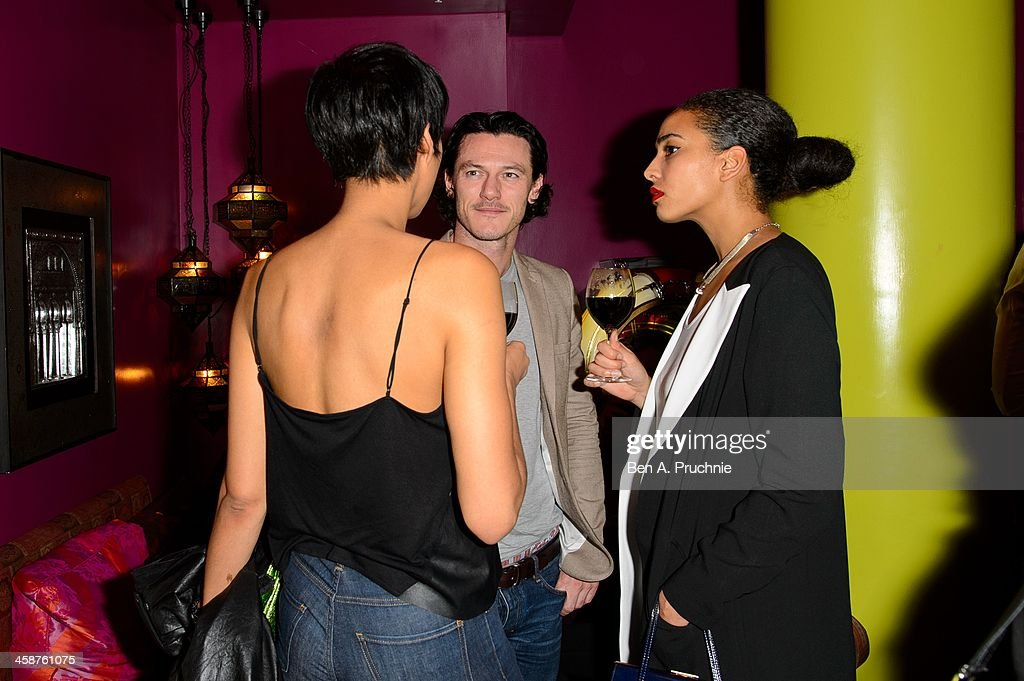 Zawe Ashton (L) and Luke Evans attend the August: Osage County drinks & screening at Soho Hotel on December 21, 2013 in London, England.