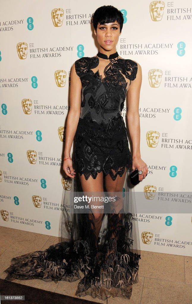 Zawe Ashton arrives at the EE British Academy Film Awards at the Royal Opera House on February 10, 2013 in London, England.