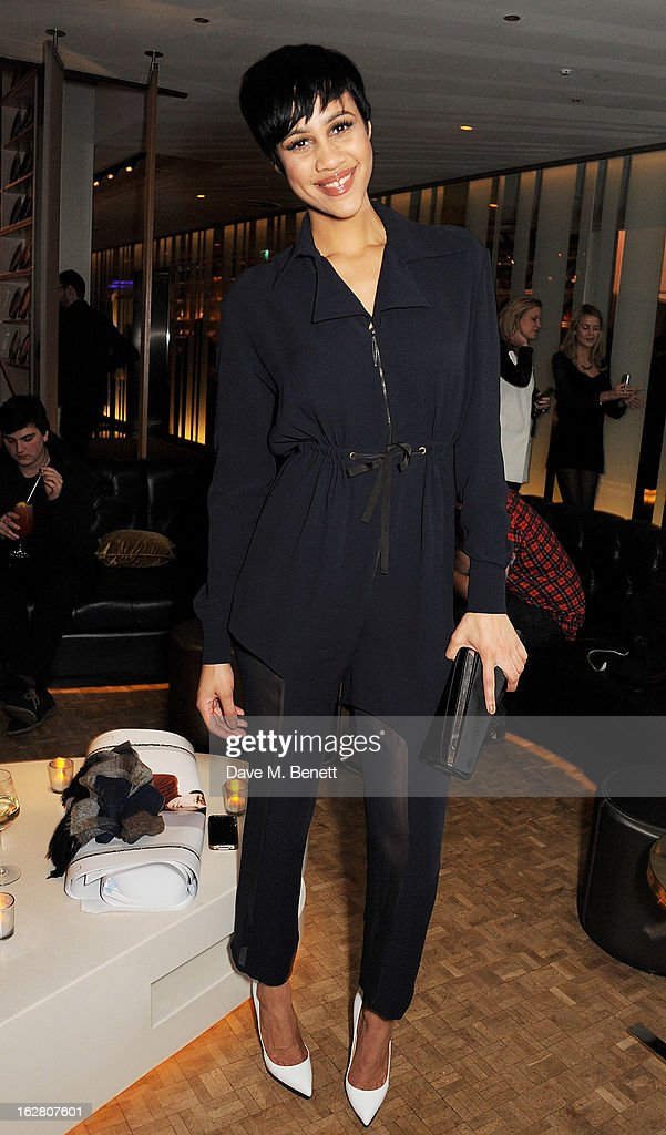 Zawe Ashton parties in Wyld at W London Leicester Square after the NME Awards whilst drinking 'CIROC 'n' Roll' cocktails on February 27, 2013 in London, United Kingdom.