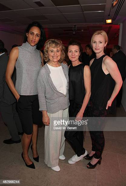 Zawe Ashton Sinead Cusack Michelle Fairley Genevieve O'Reilly attend the after party following the press night performance of 'Splendour' playing at...