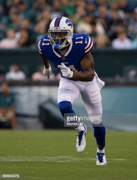 Zay Jones of the Buffalo Bills plays against the Philadelphia Eagles the preseason game at Lincoln Financial Field on August 17 2017 in Philadelphia...
