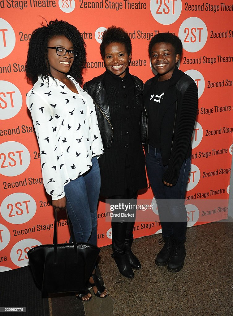 Zaya LaChanze Gooding , Actor LaChanze and Celia Rose Gooding attend 'Dear Evan Hansen' Off-Broadway opening celebration at Second Stage Theatre on May 1, 2016 in New York City.