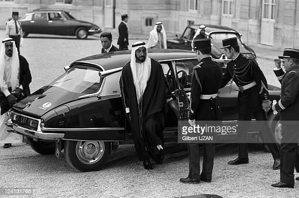 Zayad travel in Paris France on March 07 1975 Sheikh Zayed bin Sultan alNahyan