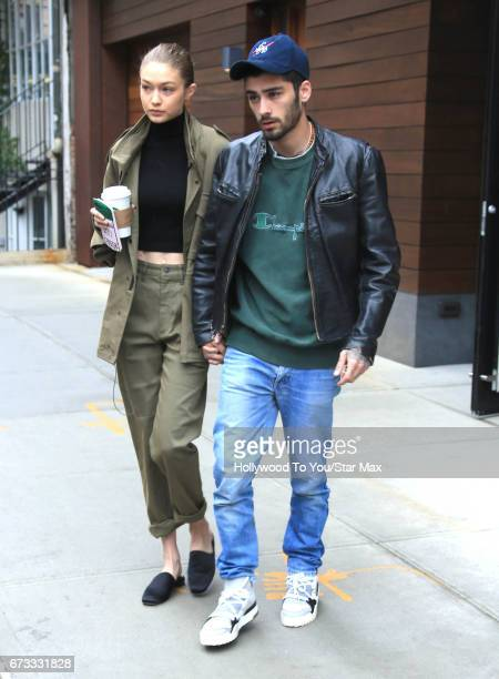 Zayn Malik and Gigi Hadid are seen on April 25 2017 in New York City