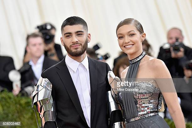 Zayn Malik and Gigi Hadid attend the 'Manus x Machina Fashion In An Age Of Technology' Costume Institute Gala at Metropolitan Museum of Art on May 2...