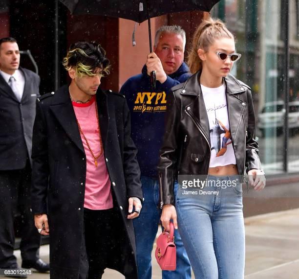 Zayn Malik and Gigi Hadid seen on the streets of Manhattan on May 13 2017 in New York City