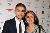 Zayn Malik and his mother Trisha Malik attend The Asian Awards 2015 at The Grosvenor House Hotel on April 17 2015 in London England
