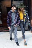 Zayn Malik and model Gigi Hadid are seen walking in Soho on July 6 2016 in New York City