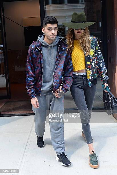 Zayn Malik and model Gigi Hadid are seen walking in Soho on July 6 2016 in New York City