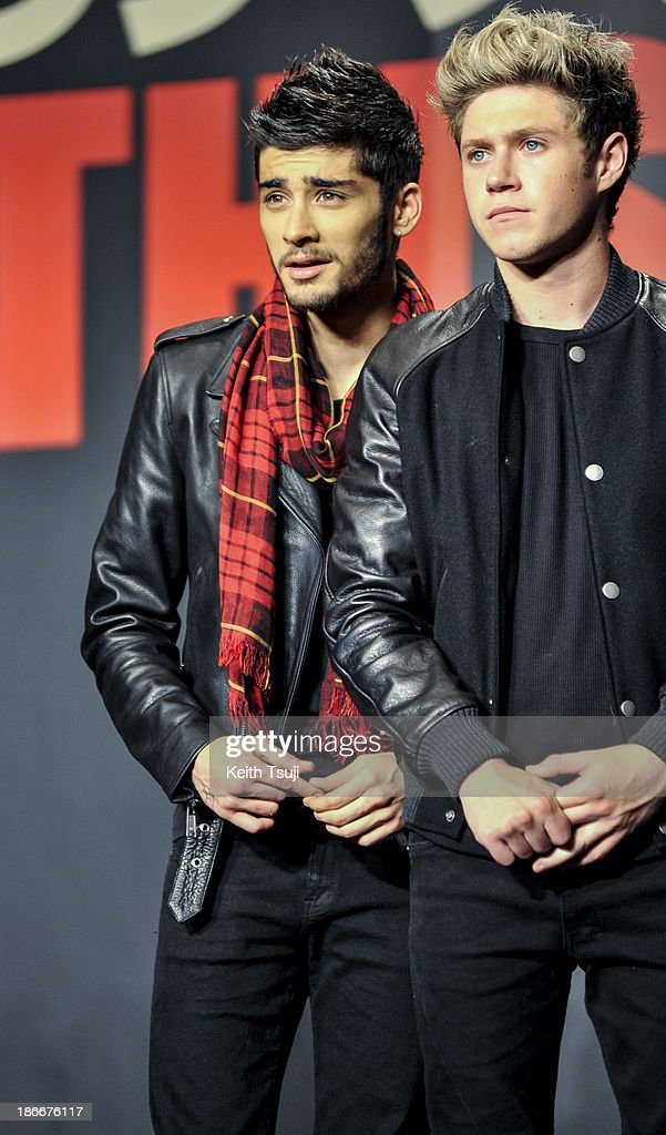 <a gi-track='captionPersonalityLinkClicked' href=/galleries/search?phrase=Zayn+Malik&family=editorial&specificpeople=7298822 ng-click='$event.stopPropagation()'>Zayn Malik</a> and <a gi-track='captionPersonalityLinkClicked' href=/galleries/search?phrase=Niall+Horan&family=editorial&specificpeople=7229827 ng-click='$event.stopPropagation()'>Niall Horan</a> of One Direction meet Japanese fans to promote 'The 1Derland: THIS IS US' on November 3, 2013 in Chiba, Japan.