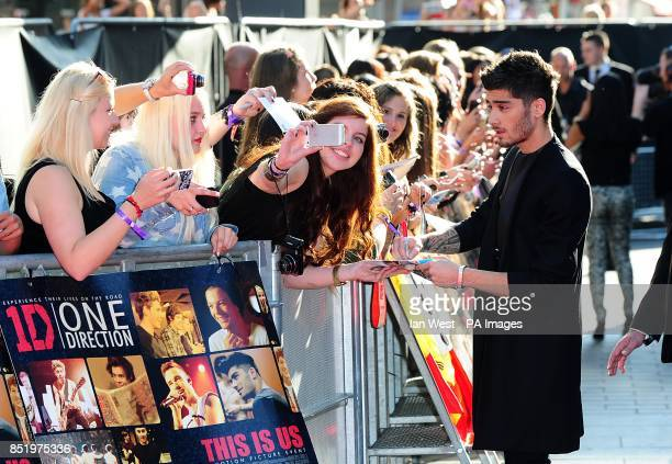 Zayn Malik arriving for the World Premiere of One Direction This Is Us at the Empire Leicester Square London