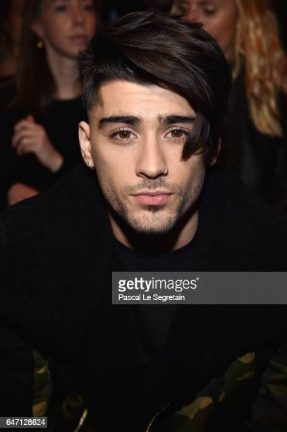 Zayn Malik attends the Balmain show as part of the Paris Fashion Week Womenswear Fall/Winter 2017/2018 on March 2 2017 in Paris France