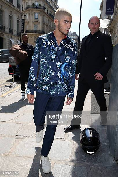 Zayn Malik attends the Louis Vuitton Menswear Spring/Summer 2016 show as part of Paris Fashion Week>> on June 25 2015 in Paris France