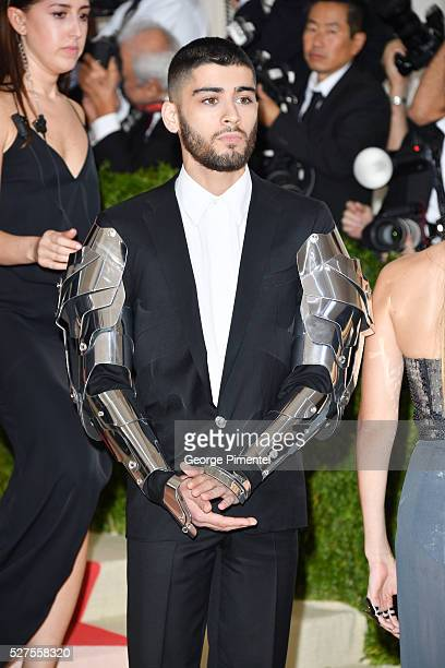 Zayn Malik attends the 'Manus x Machina Fashion in an Age of Technology' Costume Institute Gala at the Metropolitan Museum of Art on May 2 2016 in...