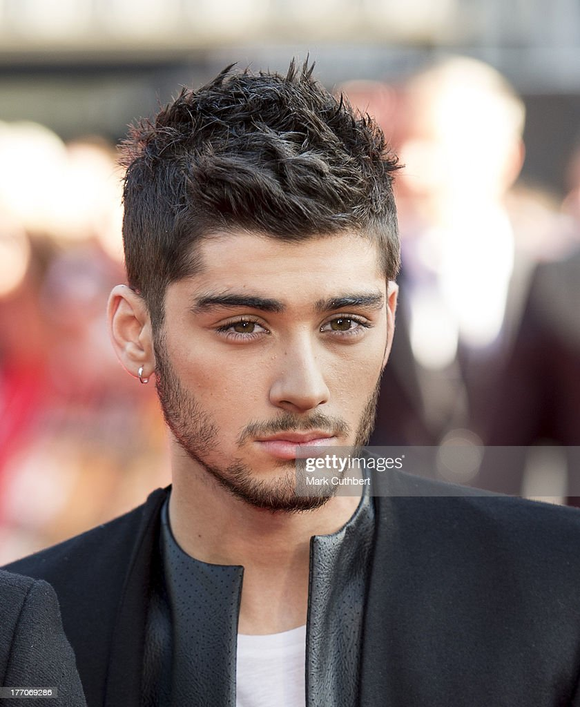 <a gi-track='captionPersonalityLinkClicked' href=/galleries/search?phrase=Zayn+Malik&family=editorial&specificpeople=7298822 ng-click='$event.stopPropagation()'>Zayn Malik</a> attends the World Premiere of 'One Direction: This Is Us' at Empire Leicester Square on August 20, 2013 in London, England.