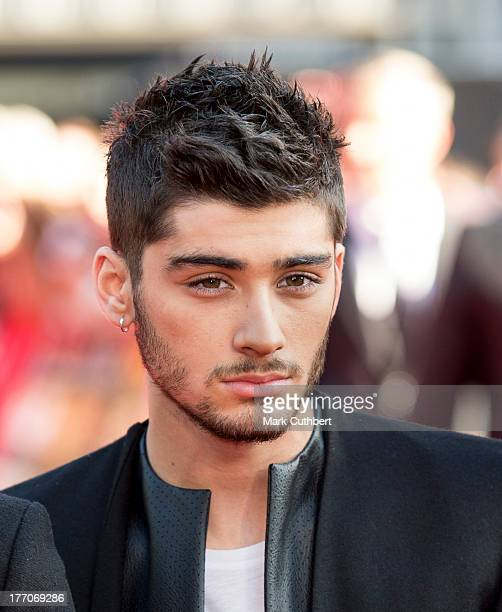 Zayn Malik attends the World Premiere of 'One Direction This Is Us' at Empire Leicester Square on August 20 2013 in London England