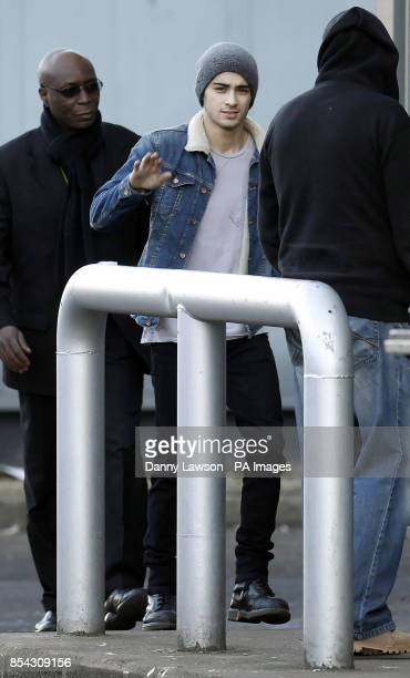 Zayn Malik from One Direction arrives at the Scottish Exhibition and Conference Centre in Glasgow ahead of playing a concert in the city