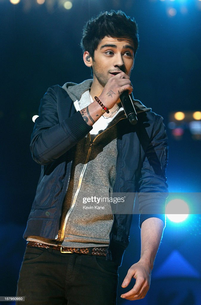 Zayn Malik of One Direction performs onstage during Z100's Jingle Ball 2012, presented by Aeropostale, at Madison Square Garden on December 7, 2012 in New York City.