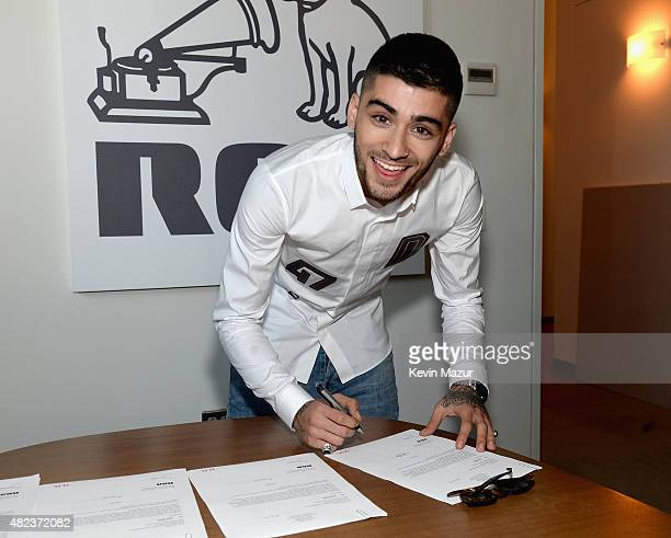 Zayn Malik signs Global Recording Deal with RCA Records on July 29 2015 in New York City
